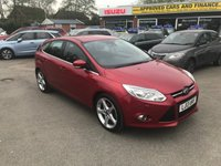 2013 FORD FOCUS 2.0 TITANIUM X TDCI 5d 161 BHP IN A SPECIAL METALLIC RED WITH ONLY 69000 MILES AND A FULL FORD SERVICE HISTORY £7499.00