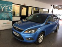 USED 2010 10 FORD FOCUS 1.6 ZETEC 5d 100 BHP Two private owners, service history- 5 stamps. Supplied with 12 months Mot. Finished in Metallic Vision Blue with Black cloth seats.
