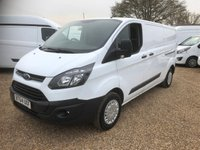 USED 2015 64 FORD TRANSIT CUSTOM 2.2 290 LR P/V 1d 99 BHP 2015 LWB CUSTOM ONE OWNER FULL SERVICE HISTORY