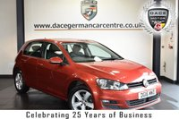 """USED 2016 16 VOLKSWAGEN GOLF 2.0 MATCH EDITION TDI BMT 5DR 148 BHP superb service history * NO ADMIN FEES * FINISHED IN STUNNING CARMAN RED WITH CLOTH UPHOLSTERY + SUPERB SERVICE HISTORY + SATELLITE NAVIGATION + BLUETOOTH + DAB RADIO + HEATED SEATS + CRUISE CONTROL + HEATED MIRRORS + AIR CONDITIONING + AUX/USB PORT + PARKING SENSORS + 16"""" ALLOY WHEELS"""