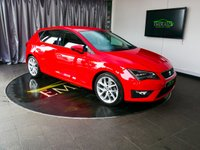 USED 2014 64 SEAT LEON 1.4 TSI FR TECHNOLOGY 5d 150 BHP £0 DEPOSIT FINANCE AVAILABLE, AIR CONDITIONING, AUX INPUT, BLUETOOTH CONNECTIVITY, CLIMATE CONTROL, CRUISE CONTROL, DAB RADIO, DAYTIME RUNNING LIGHTS, DRIVE PERFORMANCE CONTROL, FULL LED HEADLIGHT PACK, PARKING SENSORS, SATELLITE NAVIGATION, START/STOP SYSTEM, STEERING WHEEL CONTROLS, TOUCH SCREEN HEAD UNIT, TRIP COMPUTER, USB INPUT