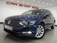 """USED 2015 65 VOLKSWAGEN PASSAT 2.0 SE BUSINESS TDI (150 bhp) BLUEMOTION TECHNOLOGY 4dr SALOON 17""""+PARKING AID+PRIVACY+NAV+CRUISE+CLIMATE+E/SEATS"""