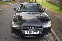 USED 2014 14 AUDI A4 2.0 TDI SE TECHNIK 4d AUTO 148 BHP SERVICE HISTORY, SATELLITE NAVIGATION, DAB RADIO, HEATED SPORTS LEATHER, REAR PRIVACY GLASS