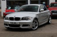 USED 2010 10 BMW 1 SERIES 120D M SPORT COUPE AUTOMATIC 2DR COUPE FULL HEATED LEATHER ** FRONT & REAR PARK AID ** BLUETOOTH PHONE **