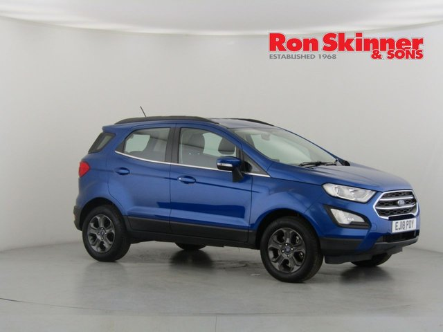 View our 2018 18 FORD ECOSPORT 1.0 ZETEC 5d 124 BHP with front and rear parking sensors