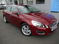 2013 VOLVO V60 2.0 D3 SE LUX 5d 134 BHP £10980.00