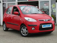 USED 2010 60 HYUNDAI I10 1.2 COMFORT 5d AUTO 77 BHP STUNNING, LOW MILEAGE, HYUNDAI I10 COMFORT 1.2 AUTO 5 DOOR. Finished in ROSSO RED with contrasting Dark Grey Cloth Trim. This Hyundai is a great value small AUTO car with good interior space for its size. Features include Alloys, Air con, Rear Parking Sensors and much more. Great to drive and the perfect auto for the small family. This car has been locally owned and Hyundai dealer serviced.