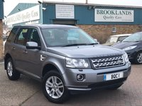 2013 LAND ROVER FREELANDER 2.2 SD4 XS AUTO Orkney Grey Met. with Black Leather  67804 FSH 190 BHP £12795.00