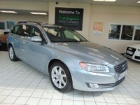 USED 2014 14 VOLVO V70 2.0 D3 SE NAV 5d 134 BHP ONE OWNER + SERVICE HISTORY + SATELLITE NAVIGATION + BLUETOOTH + FULL LEATHER + HEATED SEATS + POWER TAILGATE + ALLOYS + ROOF BARS