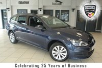 USED 2014 14 VOLKSWAGEN GOLF 1.6 SE TDI BLUEMOTION TECHNOLOGY 5d 103 BHP FINISHED IN STUNNING OCEAN BLUE WITH ANTHRACITE CLOTH SEATS + SERVICE HISTORY + BLUETOOTH + DAB RADIO + £20 ROAD TAX + TOUCH SCREEN + CRUISE CONTROL + 16 INCH ALLOYS + AIR CONDITIONING