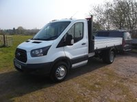 2019 FORD TRANSIT T350 Single cab Tipper 170bhp Air Con, Tow Axle Low vis pack. £24950.00