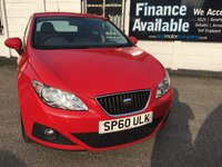 USED 2010 60 SEAT IBIZA 1.4 GOOD STUFF 5d HISTORY-2 OWNERS-T/BELT DONE 7 Service Stamps, Timing Belt done, Privacy Glass, USB