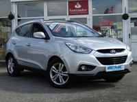 USED 2011 11 HYUNDAI IX35 1.7 PREMIUM CRDI 5d 114 BHP STUNNING, TOP OF THE RANGE, HYUNDAI IX35 PREMIUM 1.7 CRDI 2WD. Finished in SLEEK SILVER MET with contrasting FULL HEATED LEATHER SEATS. This Hyundai is a popular medium sized SUV. It's renowned for its excellent value for money, good looks and comfort. Features include, Sat Nav, Pan Roof, Front and Rear Heated Leather Seats, Rear View Camera, Power folding Mirrors and much more.