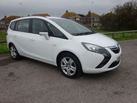 2014 VAUXHALL ZAFIRA TOURER 1.4 EXCLUSIV 5d 138 BHP, 1 OWNER 10900 MILES FULL SERVICE HISTORY £8995.00