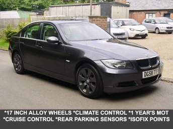 2008 BMW 3 SERIES 2.0 320D Edition SE Diesel Automatic Saloon In Grey With Full Cream Leather £4295.00