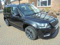 2015 SKODA YETI 2.0 BLACK EDITION TDI CR DSG 5d AUTO 138 BHP SAT NAV £10500.00