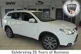 USED 2014 14 MITSUBISHI OUTLANDER 2.3 DI-D GX 4 5d AUTO 147 BHP FINISHED IN STUNNING WHITE WITH FULL LEATHER SEATS + SATELLITE NAVIGATION + ELECTRIC SUNROOF + REVERSE CAMERA + XENON HEADLIGHTS + 18 INCH ALLOYS + HEATED FRONT SEATS + DAB RADIO + BLUETOOTH + CRUISE CONTROL + AIR CONDITIONING