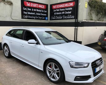 2015 AUDI A4 2.0 AVANT TDI S LINE START/STOP 5DR 150 BHP, HEATED LEATHER SEATS, NAV. £14250.00