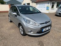 USED 2012 12 FORD FIESTA 1.2 ZETEC 5d 81 BHP EXCELLENT LOW MILEAGE / VOICE COMM / USB / BLUETOOTH
