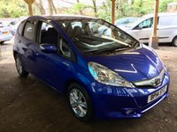 USED 2014 14 HONDA JAZZ 1.3 IMA HS 5d AUTO 102 BHP 26K 2OWNERS HYBRED ECONOMY PADDLE SHIFTS CRUISE ECON EXC CONDITION