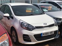 2017 KIA RIO 1.1 CRDI SE ISG 5 Door Finished in White 33444 miles FSH 74 BHP 6sp Manual £7995.00