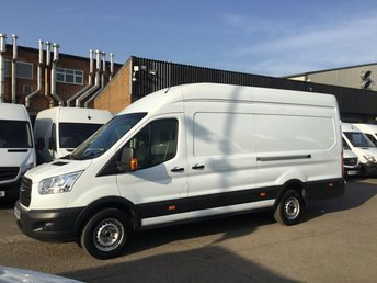 2016 FORD TRANSIT 2.2TDCI T350 L4 JUMBO LWB HIGH ROOF 155BHP. BIG POWER. £9390.00