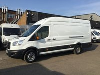 USED 2016 65 FORD TRANSIT 2.2TDCI T350 L4 JUMBO LWB HIGH ROOF 155BHP. MORE POWER.  RARE 155BHP. 1 OWNER. F/S/H. LOW FINANCE. PX WELCOME