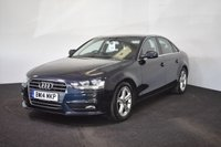 USED 2014 14 AUDI A4 2.0 TDI SE 4d 134 BHP £20 TAX + BLUETOOTH + ALLOYS