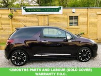 USED 2015 65 DS DS 3 1.6 BLUEHDI DSPORT S/S 3d 118 BHP Stunning looking car finished in dark metallic purple whisper pearl that looks stunning especially in the sun. Full black nappa  leather interior, media interface with bluetooth and voice control, DAB Rdio, climate control, has a full service history and active city brake pack, Bertone diamond cut Alloys. STUNNING with free road tax and combined MPG of 78.5 to the gallon.