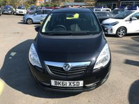 2011 VAUXHALL MERIVA 1.7 EXCLUSIV CDTI 5d 128 BHP IN BLACK WITH 90000 MILES IN GOOD CONDITION .(TRADE CLEARANCE) £1750.00