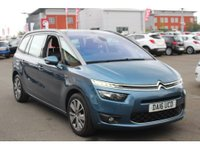 2016 CITROEN C4 GRAND PICASSO 2.0 BLUEHDI EXCLUSIVE EAT6 5d AUTO 148 BHP IN METALLIC BLUE WITH A FULL MAIN DEALER HISTORY! £9299.00