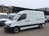 USED 2015 15 MERCEDES-BENZ SPRINTER 2.1 313CDI MWB HIGH ROOF 130BHP AIRCON. F.S.H. FINANCE. AIR CON. 1 OWNER. F/S/H. LOW FINANCE. PX WELCOME
