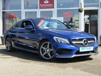 USED 2016 16 MERCEDES-BENZ C CLASS 2.1 C 250 D AMG LINE PREMIUM 2d AUTO 201 BHP STUNNING, 1 OWNER, £30 ROAD TAX, Mercedes C Class 2.1 C250D AMG LINE PREMIUM AUTO, 201 BHP. Finished in BRILLIANT BLUE METALLIC with contrasting BLACK HEATED LEATHER trim. This dynamic looking coupe has every extra you could want. It is sporty and agile and great fun to drive. Features include, Sat Nav, Panoramic roof, heated memory leather seats, DAB radio, Cruise Control, Electric Boot, Reverse Cameras, Only £30 Road Tax and much more.