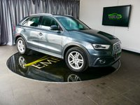 USED 2013 63 AUDI Q3 2.0 TDI QUATTRO S LINE 5d AUTO 175 BHP £0 DEPOSIT FINANCE AVAILABLE, AIR CONDITIONING, AUDI PARKING SYSTEM ADVANCED, BLUETOOTH CONNECTIVITY, CLIMATE CONTROL, CRUISE CONTROL, DAB RADIO, DAYTIME RUNNING LIGHTS, ELECTRONIC PARKING BRAKE, GEARSHIFT PADDLES, HEATED SEATS, MULTI MEDIA INTERFACE CONTROL SYSTEM, PARKING SENSORS, PARK ASSIST, REVERSE CAMERA, SATELLITE NAVIGATION, START/STOP SYSTEM, STEERING WHEEL CONTROLS, TRIP COMPUTER