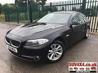 USED 2012 12 BMW 5 SERIES 2.0 520D SE 4d 181 BHP LEATHER BLUETOOTH CRUISE A/C STUNNING BLACK MET WITH FULL BEIGE LEATHER TRIM. ELECTRIC HEATED SEATS. CRUISE CONTROL. 17 INCH ALLOYS. COLOUR CODED TRIMS. PARKING SENSORS. BLUETOOTH PREP. DUAL CLIMATE CONTROL INCLUDING AIR CON. MFSW. R/CD PLAYER. 6 SPEED MANUAL. MFSW. MOT 04/20. SUV4X4 USED CAR CENTRE LS23 7FR TEL 01937 849492 OPTION 1
