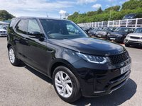 USED 2018 18 LAND ROVER DISCOVERY 3.0 TD6 HSE 5d AUTO 255 BHP Metallic Black, Black leather stitched White, panoramic sunroofs, only 10,000 miles