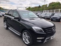 USED 2014 64 MERCEDES-BENZ M CLASS 3.0 ML350 BLUETEC AMG LINE PREMIUM PLUS 5d 258 BHP Panoramic glass roof, COMAND, camera, 21 inch, Harmon Kardon ++