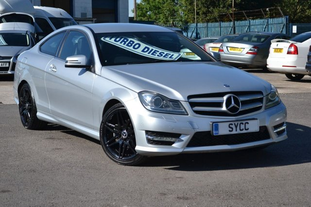 "USED 2013 13 MERCEDES-BENZ C CLASS 2.1 C220 CDI BLUEEFFICIENCY AMG SPORT PLUS 2d AUTO 168 BHP 18"" BLACK AMG ALLOYS ~ 2 KEYS ~ REAR SPOILER ~ FULL SERVICE RECORDS"