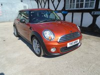 2011 MINI HATCH ONE 1.6 ONE 3d 98 BHP £4280.00