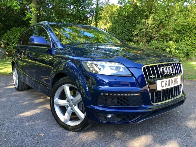 2011 11 AUDI Q7 3.0 TDI QUATTRO S LINE 5d AUTO 240 BHP 7 SEATER/FULL SERVICE HISTORY / 2 OWNERS