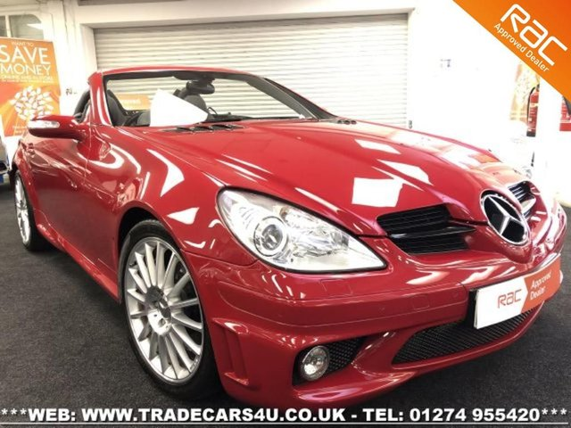 2006 MERCEDES-BENZ SLK SLK55 AMG 5.4 V8 7G-TRONIC CONVERTIBLE IN RED