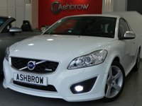 USED 2012 62 VOLVO C30 2.0 R-DESIGN LUX 3d 143 BHP FULL SERVICE HISTORY, UPGRADE HEATED FRONT SEATS, SAT NAV (W/ FOLDING SCREEN + REMOTE), LED DRLS, BLUETOOTH W/ AUDIO STREAMING, BLACK LEATHER ALCANTARA (R DESIGN), LEATHER MULTI FUNCTION STEERING WHEEL (R DESIGN), USB + AUX IN, REAR PARKING SENSORS, ELECTRICALLY ADJUSTABLE POWER FOLDING ALUM DOOR MIRRORS, ELECTRIC WINDOWS, AUTO LIGHTS + WIPERS, DUAL CLIMATE A/C, FOOTWELL LIGHTS, REAR SPOILER, 17 IN 5 SPOKE ALLOYS, HEADLAMP WASHERS, DIS TRIP COMP, HEIGHT + LUMBAR ADJ FR SEATS, VAT QUALIFYING.