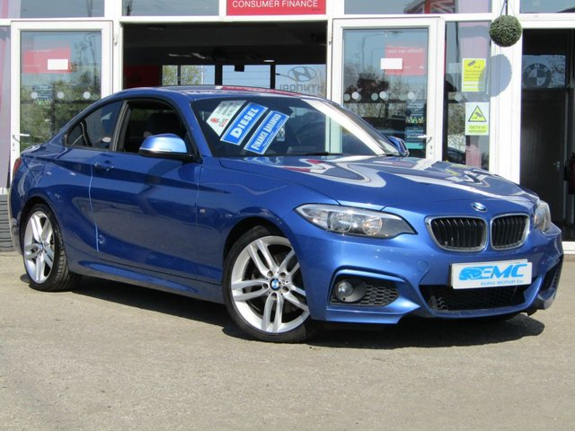 2014 14 BMW 2 SERIES 2.0 220D M SPORT 2d 181 BHP