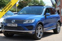 USED 2016 65 VOLKSWAGEN TOUAREG 3.0 V6 R-LINE TDI BLUEMOTION TECHNOLOGY 5d AUTO 259 BHP FREE 6 MONTHS WARRANTY PANORAMIC ROOF