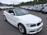 USED 2012 62 BMW 1 SERIES 2.0 120D M SPORT 2d 175 BHP Alpine White, Black half leather, wind deflector, M-Sport Package. Under 30,000 miles