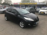 2012 FORD FIESTA 1.2 ZETEC 5d 81 BHP IN METALLIC BLACK WITH ONLY 47,000 MILES AND A FULL SERVICE HISTORY £5499.00