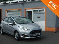 "USED 2013 62 FORD FIESTA 1.2 ZETEC 5d 81 BHP 5 Service Stamps, 15"" Alloys, Heated Front screen, Aux/USB function"