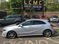 USED 2015 65 MERCEDES-BENZ A CLASS 2.1 A 200 D AMG LINE PREMIUM 5d AUTO 134 BHP STUNNING POLAR SILVER PAINT WORK, HALF ARTICO LEATHER BLACK/ SUEDE TRIM, 18 INCH AMG DOUBLE SPOKE ALLOYS, SAT NAV, HEATED SEATS, CRUISE, FRONT AND REAR PDC, FULL MERCEDES SERVICE HISTORY, STUNNING EXAMPLE