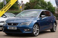 USED 2016 16 SEAT LEON 2.0 TDI FR TECHNOLOGY 5d 150 BHP RECENTLY SERVICED SATELLITE NAVIGATION