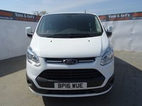 USED 2016 16 FORD TRANSIT CUSTOM 2.2 290 LIMITED LR DCB 1d 124 BHP FORD CUSTOM CREW LIMITED AIR CON HEATED SEATS ALLOYS
